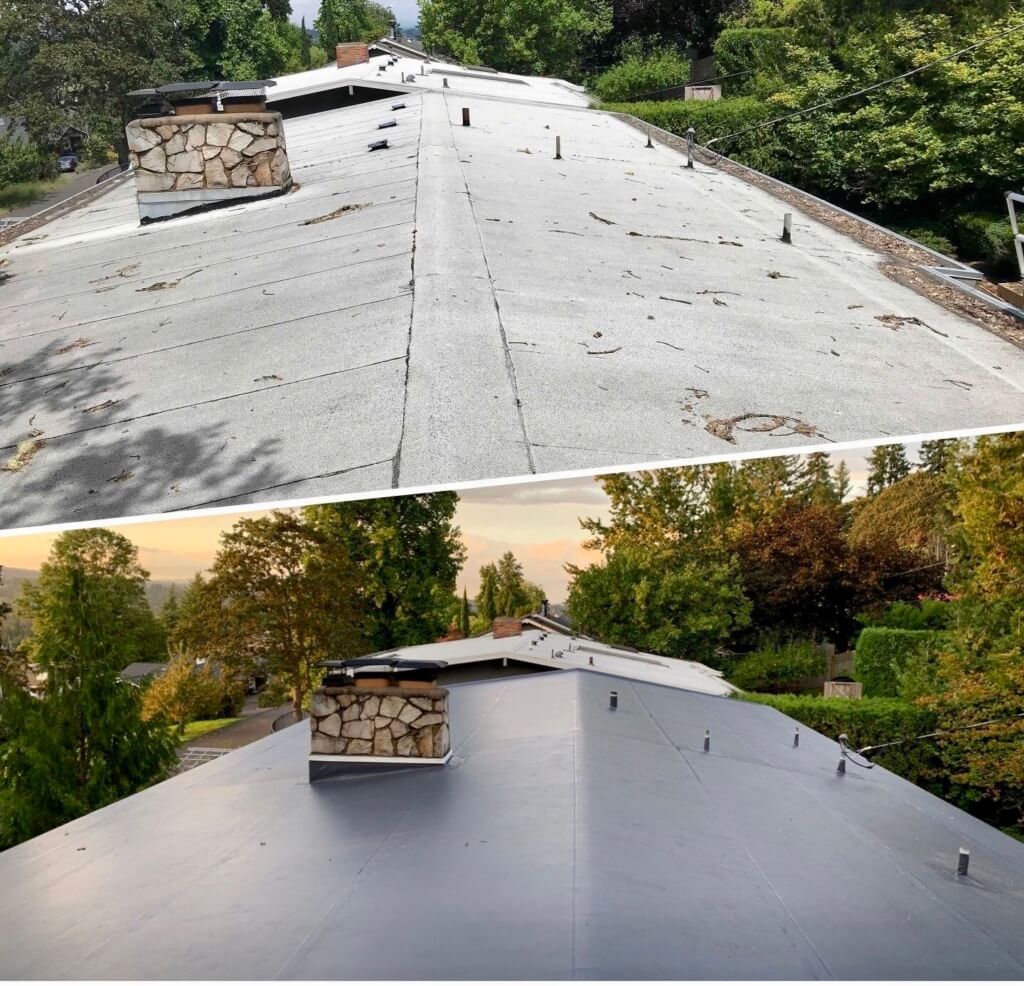 low slope re-roofing
